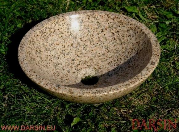 Umywalka z granitu Gold Rust  (nr. 87)