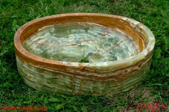 Umywalki z onyksów - wzory