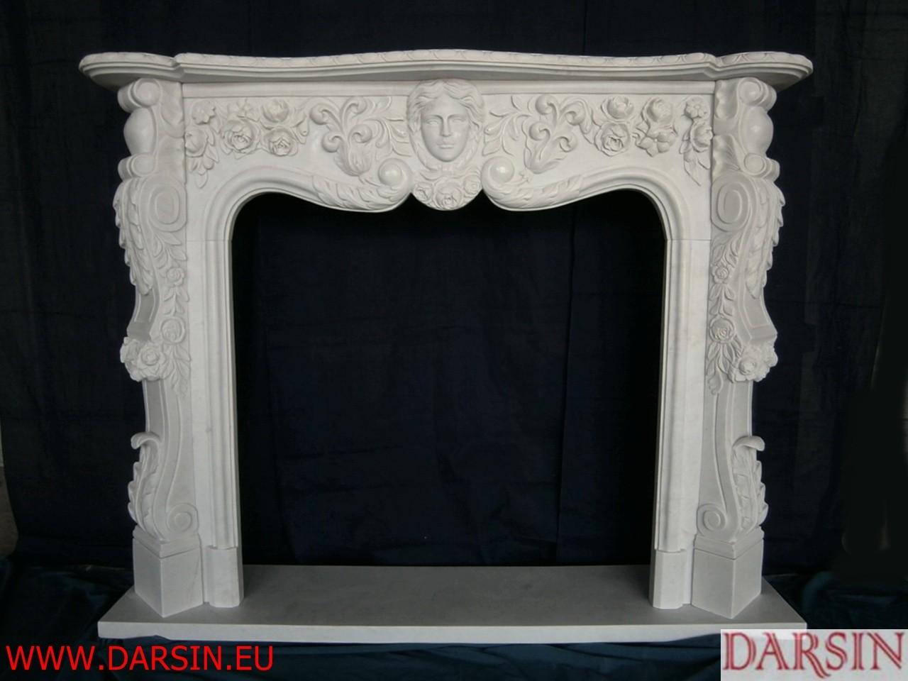 Portal kominkowy z marmuru (DKO2)