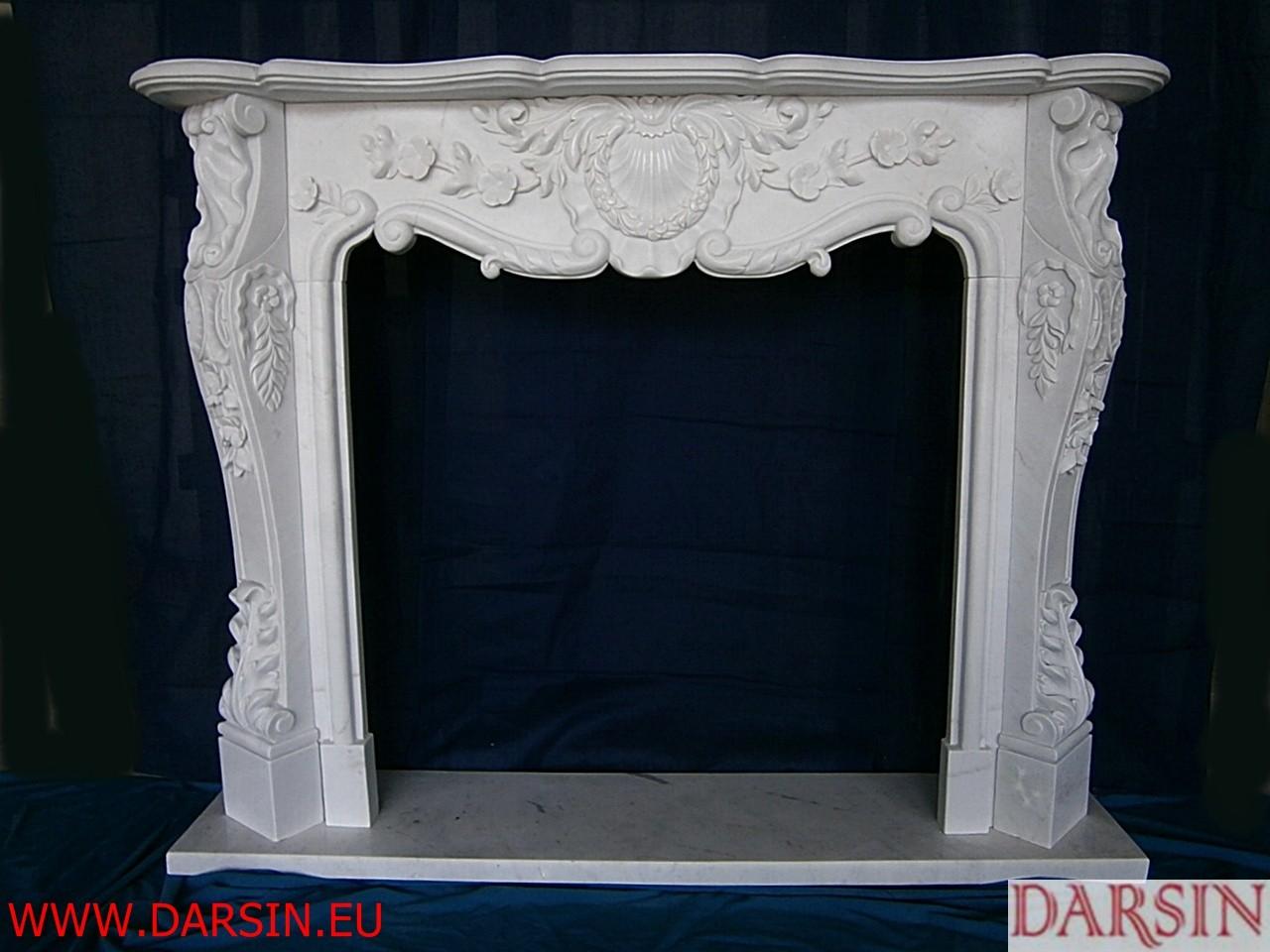 Portal kominkowy z marmuru (DKO3)